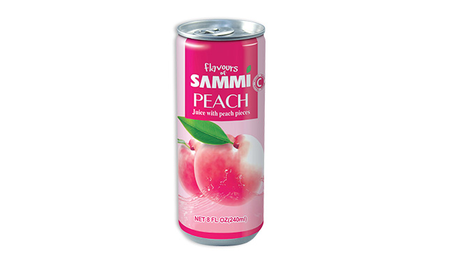 Peach Juice with peach pieces