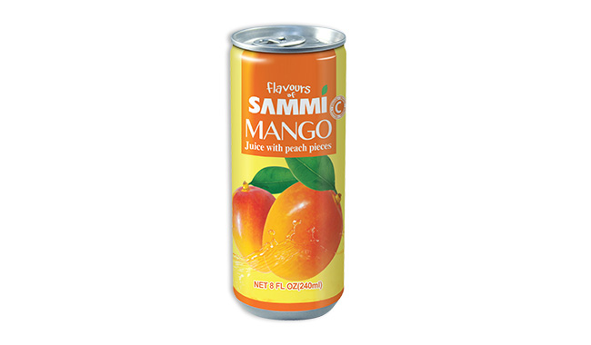 Mango Juice with peach pieces