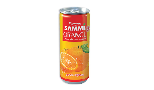 Orange Juice with orange pieces